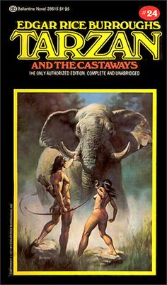 Neal Adams and Boris Vallejo were commissioned in the mid by Ballantine Books to paint covers for Edgar Rice Burroughs' Tarzan books. Collected art and sketches. Tarzan Book, Tarzan Series, Boris Vallejo, Pulp Fiction, Science Fiction, I Love Books, My Books, Tarzan Of The Apes, John Carter Of Mars