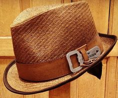 Bottle Opener Fedora  Become the most popular neckbeard at your next shindig by wearing the bottle opener Fedora. This spiffy looking fedora is made from 100% natural fiber and features a strapping leather hatband that houses a removable bottle opener discretely on the side.  $24.77  Check It Out  Awesome Sht You Can Buy