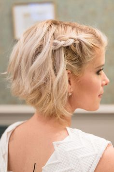 Trendy haircuts and hairstyles for short hair 2020 - 82 photos Short Weave Hairstyles, Funky Hairstyles, Formal Hairstyles, Pretty Hairstyles, Wedding Hairstyles, Trendy Haircuts, Hairstyle Men, Hairstyle Ideas, Short Hair Wedding Updo
