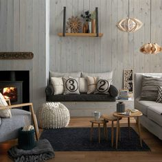 Fireplaces with Bench design idea