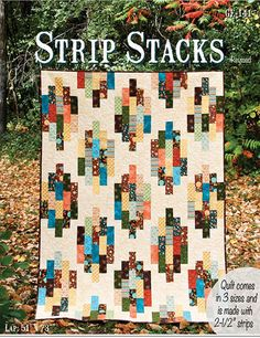 "This quilt is made from your favorite 2 1/2"" strip Dragon Roll, Bali Pop or Jelly Roll and yardage for the background fabric. This quilt is very simple to put together and a great quilt for beginners"