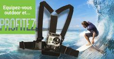 Pour capturer vos aventures, soyez bien accroché ! Rien de plus facile avec la #Gop harnais fixation poitrine de #Gopro en cliquant deux fois sur l'image #outdoor Et retrouvez quelques idées de voyages sur le site www.phoxacademy.fr