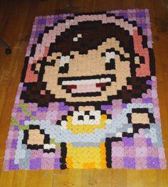 Cooking Mama crochet pixel blanket