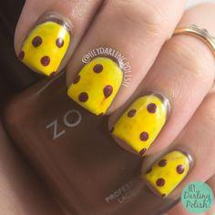 Yummy  #nails, #nailart, #nailpolish, #yellow, #red, #pepperoni, #pizza, #pepperonipizza, #heydarlingpolish, #lacquerlegion, #llyummy