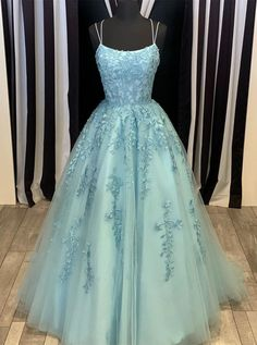 Pink Tulle Lace Long Prom Dress Scoop Spaghetti Formal Evening Gowns PSK014 #promdresses #eveninggown #partydresses #formaldress #bluedress #2020promdress #fashion #dress #eveningdress Pretty Prom Dresses, Tulle Prom Dress, Lace Evening Dresses, Prom Dresses Blue, Prom Party Dresses, Party Gowns, Dance Dresses, Formal Dresses, Tulle Lace