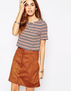Glamorous Multi Coloured Stripe T-Shirt