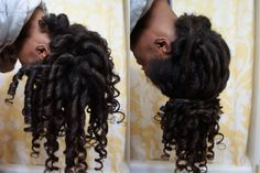 """Preserving My Flexi Rod Set by """"Pineappling"""" (""""Pineappling"""": that's new for me!) How to use flexi rods on natural and relaxed hairstyles, tutorials for short and long hair, big curls http://www.shorthaircutsforblackwomen.com/flexi-rods-on-natural-hair/"""