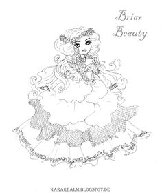 ever after high character color pages for kidsholly o hair