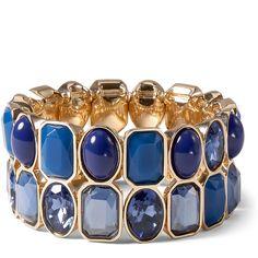 Blue/Gold Stretch Bracelet whitehouseblackmarket.com. White House Black Market: $20 off $80 your purchase.