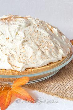 No Bake Triple Layer Pumpkin Pie - Art and the Kitchen -This is the best Thanksgiving Dessert! My favorite Pumpkin Pie recipe!
