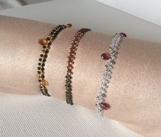 Black Spinel Citrine Topaz Pink Tourmaline di Crystalsoultherapy