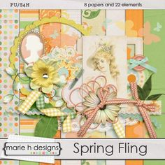 Spring Fling mini kit freebie from Marie H Designs