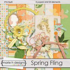 Spring Fling mini kit freebie from Marie H Designs