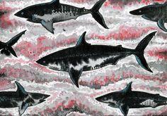 black shark metal wall art design by melanie dann