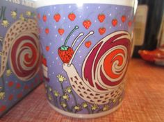 Vintage 1981 Taylor & Ng Strawberry Snail Coffee by kookykitsch, $25.00