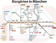 Biergarten S-Bahn Plan München good way to get to a Biergarten using public transport. John Coats from the UK had this wonderful idea, just love it