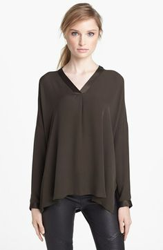 Vince V-Neck Blouse available at #Nordstrom