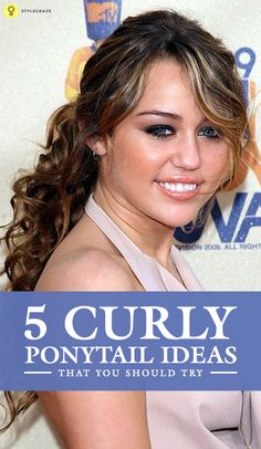 how to make a good curly ponytail