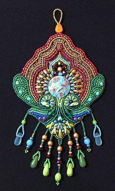 Bead Embroidery Kit: Birds of Paradise by LisaBinkleyBeads on Etsy