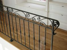 Non Skid Stair Treads Exterior — Stair Railing Design Wrought Iron Porch Railings, Indoor Stair Railing, Exterior Stair Railing, Stair Railing Kits, Interior Railings, Stair Railing Design, Wood Railing, Iron Handrails, Iron Balcony
