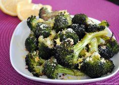 Parmesan-Lemon Roasted Broccoli - Just five ingredients makes the best broccoli side dish ever! | foxeslovelemons.com
