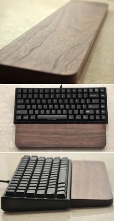 Black Walnut Mechanical Keyboard Wrist Rest