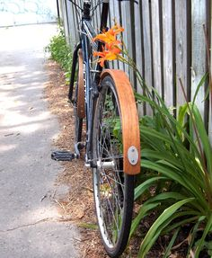 Wooden Bike Fender set $130