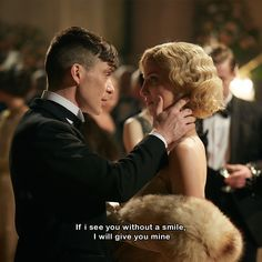 Peaky Blinders, season episode aired 12 May Thomas Shelby is played by Cillian Murphy and Grace Shelby is played by Annabelle Wallis. Peaky Blinders Grace, Peaky Blinders Season, Peaky Blinders Series, Peaky Blinders Thomas, Peaky Blinders Quotes, Cillian Murphy Peaky Blinders, Series Movies, Tv Series, Peaky Blinders Tommy Shelby