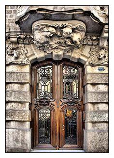 ♅ Detailed Doors to Drool Over ♅  art photographs of door knockers, hardware & portals - Barcelona, Spain