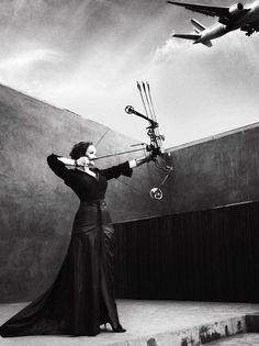 "Christina Hendricks by Cedric Buchet for V Magazine, Spring 2012 -- ""The Big Shot.""  Lookin' like a baller."