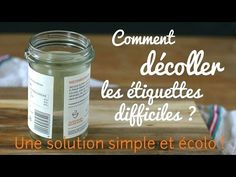 Comment décoller les étiquettes difficiles : une solution simple et écologique ! - YouTube Solution, Simple, Diy And Crafts, Good Things, Make It Yourself, Cosmetics, Health, Check, Inspiration