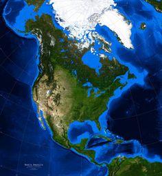 Printable Outline Of North America North America Outline - Printable satellite maps
