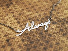 """Always necklace (Harry Potter)   metal cutting, material: nickel silver   """"After all this time?"""" """"Always."""""""