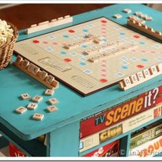 Rolling Game Table DIY..I could really use this! Got a stack of games in my closet!