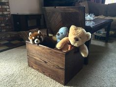 Wood Toy Chest Solid Hardwood Wooden Box by CandlewoodFurniture