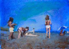 Summer Beach, 2013 by Sara Sisun