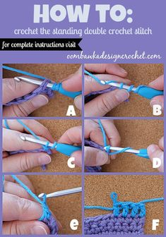 Crochet Tutorial: How To Join New Yarn with a Standing Double Crochet Stitch by Oombawka Design Crochet Crochet 101, Tunisian Crochet, Crochet Basics, Crochet For Beginners, Love Crochet, Learn To Crochet, Crochet Crafts, Double Crochet, Crochet Hooks