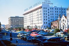 Photo of the Hotel San Carlos in Pensacola, Florida, in 1953.  Click the photo for more pictures of a trip to Florida in 1953.