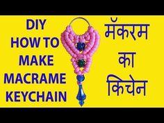 DIY Simple Handmade Macrame Keychain Tutorial | How to make Macrame Keychain - YouTube