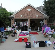 Tips for a Successful Garage Sale - bins by size/don't fold; hang nice; set pricing by type, eg $1-$2 adult, .50 kid; $60 in small bills and $5 in quarters