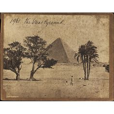 The Great Pyramid (Photograph) Date: 1850s to 1870s (photographed) Place: Pyramids of Giza Artist/maker: Francis Frith