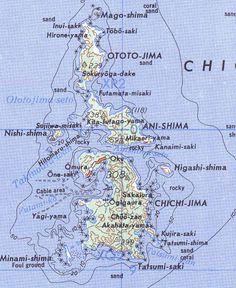 Karte der Chichijima-Inselkette ◆Ogasawara-guntō – Wikipedia http://de.wikipedia.org/wiki/Ogasawara-gunt%C5%8D #Ogasawara_Islands #Bonin_Islands