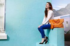 Orange Ostrich Leather Juliet Bag #jennifermiddletonbags #luxurydesignerhandbags www.jennifermiddletonbags.com The Ostrich, Beautiful Lines, Creating A Brand, Satchel, Photoshoot, Handbags, Elegant, Leather, Style