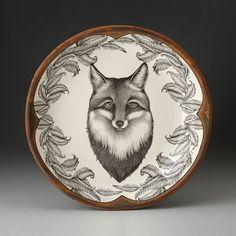 Laura Zindel Design - Small Round Platter: Fox Portrait, $265.00…