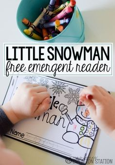 FREE Little Snowman Emergent Reader Printable Book - Mrs. Jones' Creation Station
