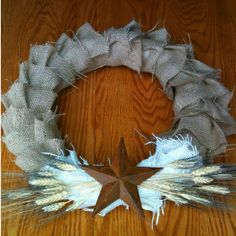 summer country wreath - designed & made by me.  inspired by jones design co.