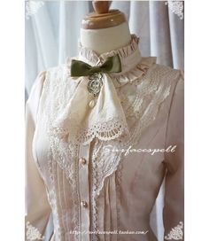 Surface Spell Vintage Stand Collar Lolita Blouse - My Lolita Dress