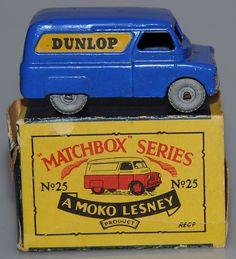 Vintage Lesney  Matchbox 25A Dunlop Van Metal Wheels 1956