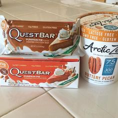 Happy October 1stMy @questnutrition pumpkin pie bars came just in time! I know what I'll be having for dessert tonight #fitfam #fitspiration #iifymgirls #macros #iifym #fitspo #fit #workout #highprotein #lowcarb #questbar #fitness #legday #girlswithmuscle #girlswholift #arcticzero #fall #pumpkinseason by laughliftlove