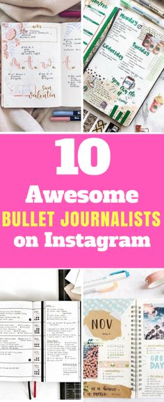 Follow these Instagram profiles for an extra dose of inspiration for your bullet journal spreads!